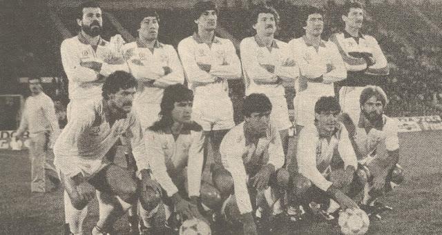 Formación de Paraguay ante Chile, amistoso disputado el 19 de octubre de 1985