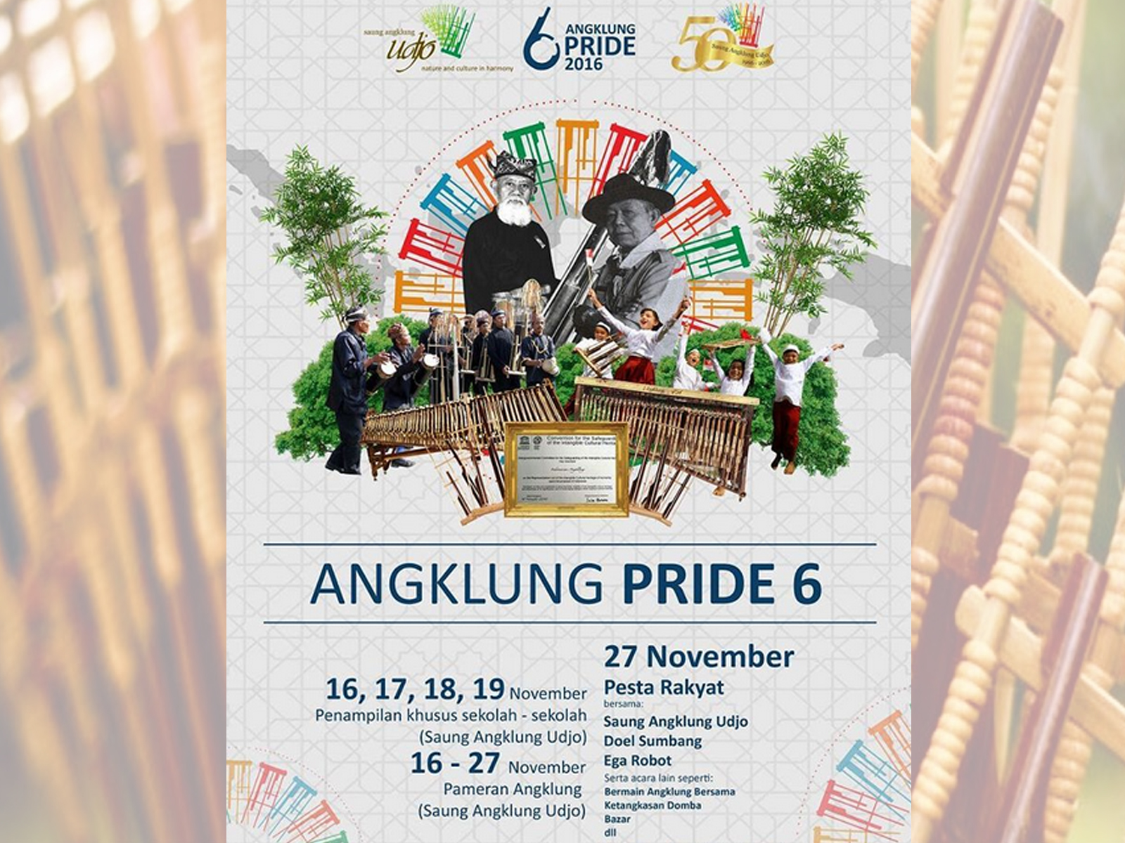 Event Hari Angklung Sedunia 2016 di Bandung
