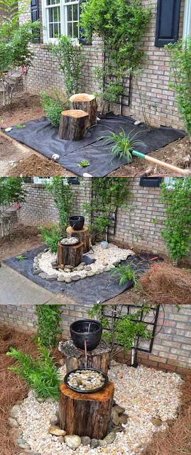 Una bonita fuente para el jardín
