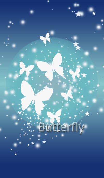 7 White butterflies.
