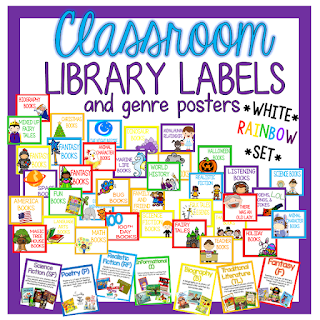 https://www.teacherspayteachers.com/Product/Classroom-Library-BasketBin-Labels-White-Rainbow-Set-1939743