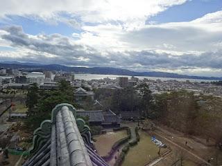 松江城の天守からの景色