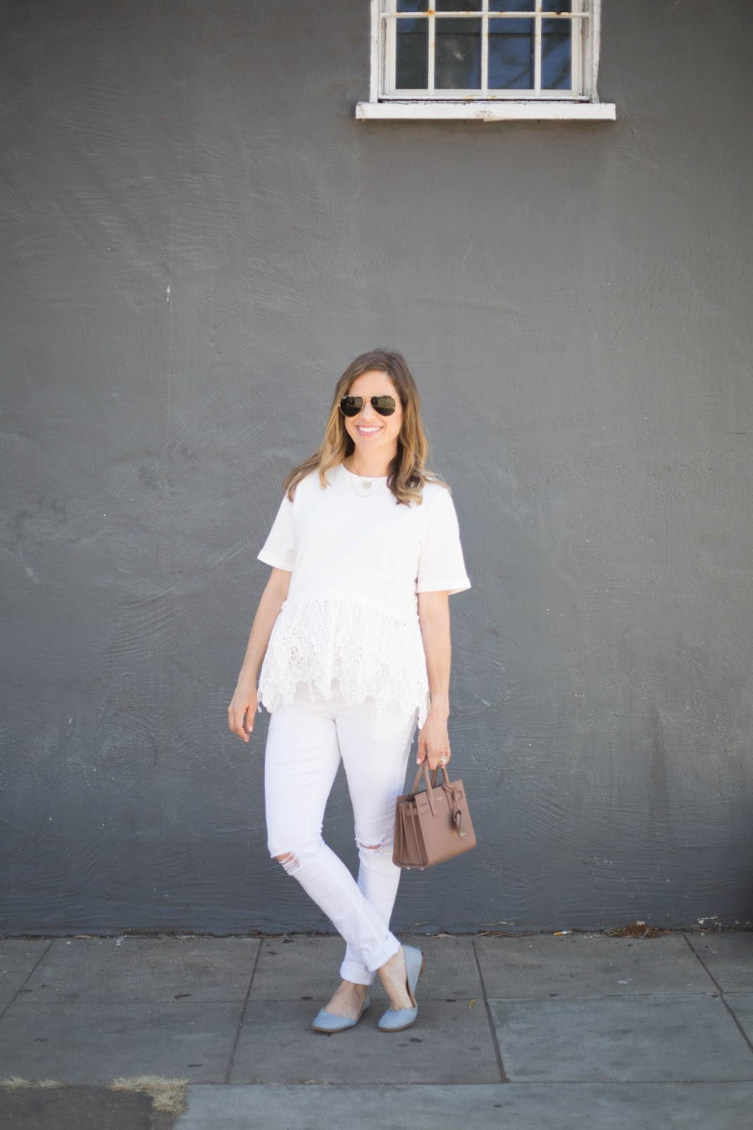maternity all white outfit