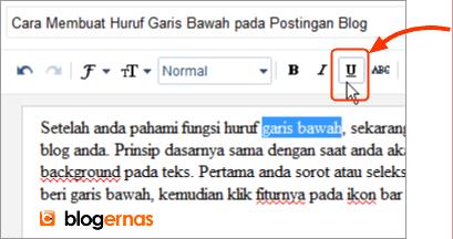 Cara Membuat Huruf Garis Bawah pada Postingan Blog