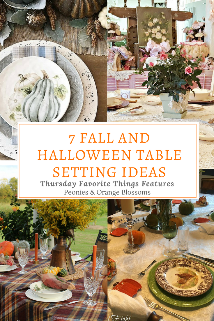 Fall and Halloween Table Setting Ideas