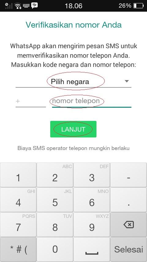 cara mengaktifkan whatsapp dengan nomor yang sudah tidak aktif
