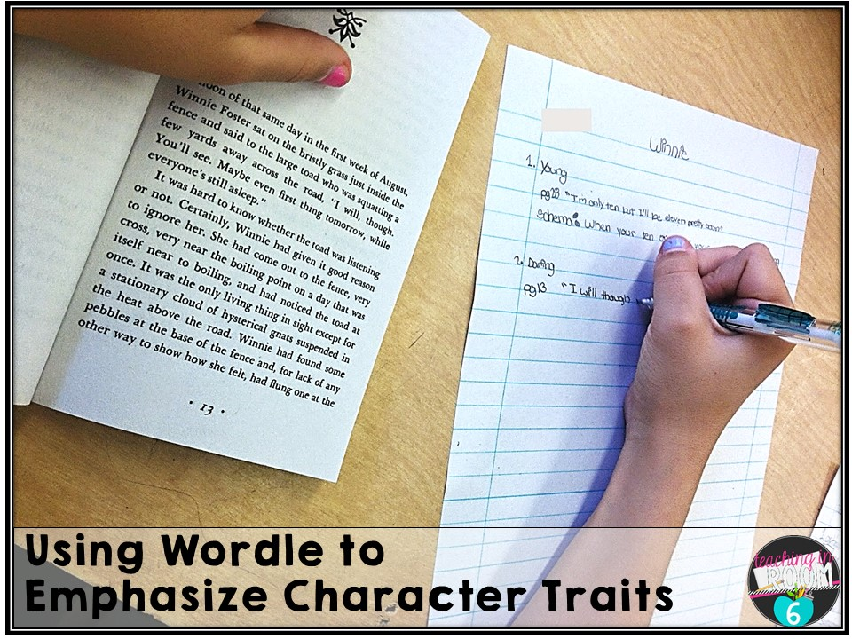 character trait essays and wordle teaching in room  reading and writing in fifth grade