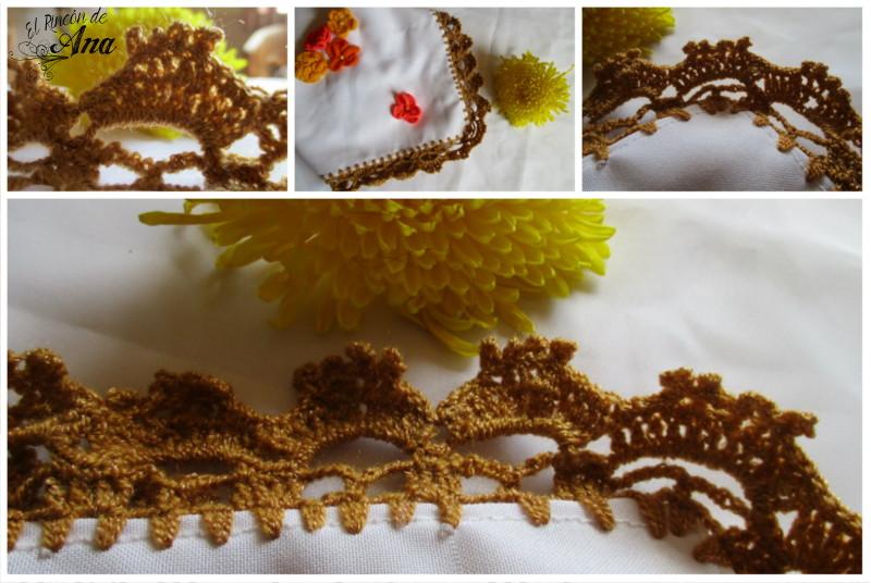 Orilla de servilleta tejida con ganchillo