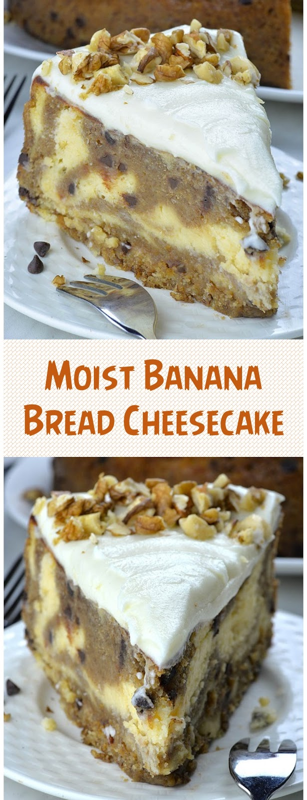 Moist Banana Bread Cheesecake