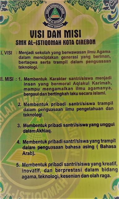Visi dan Misi SMK Al-Istiqomah Kota Cirebon