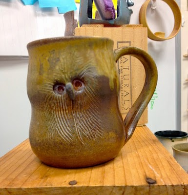 Owl Mug by Future Relics Gallery