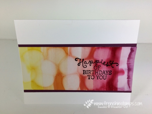 Bokeh Stampin' Blends, Birthday Blooms, Lovely Words Thinlits, Stampin'Up!