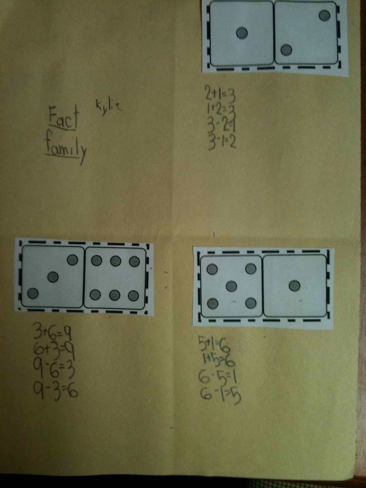 First Grade Best Domino Fact Families