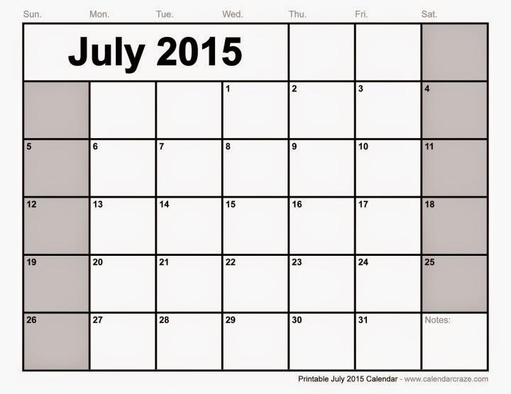 Free Printable Calendar 2019 Free Printable Calendar July