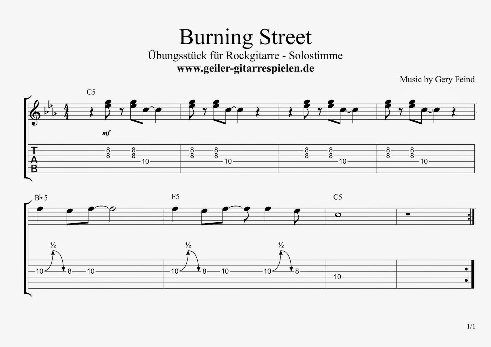 Blues-Rock Übungsstück – E-Gitarre Melodie | Einfach geiler Gitarre ...