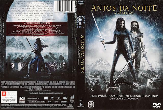 Capa DVD Anjos da Noite A Rebelião