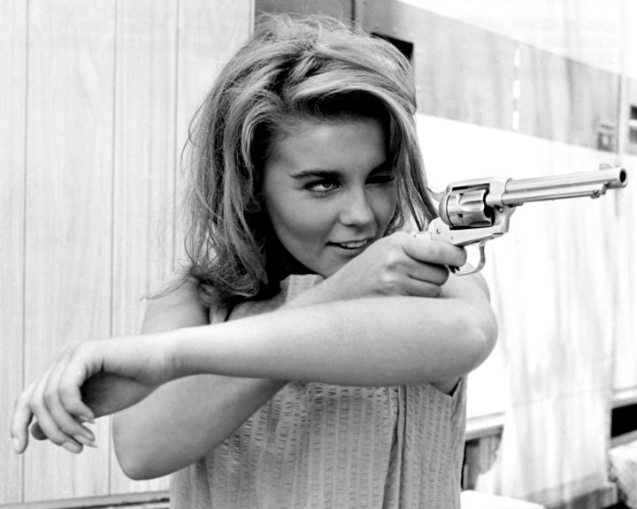 vintage photos of girl with pistol vintage everyday