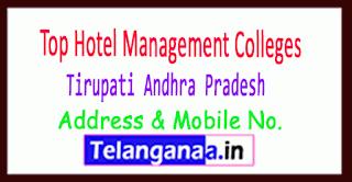 Top Hotel Management Colleges in Tirupati Andhra Pradesh