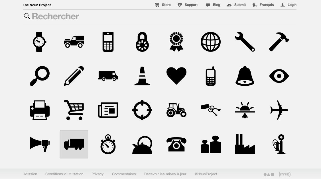 Le Dendrographe: Le projet Noun : des icônes gratuites