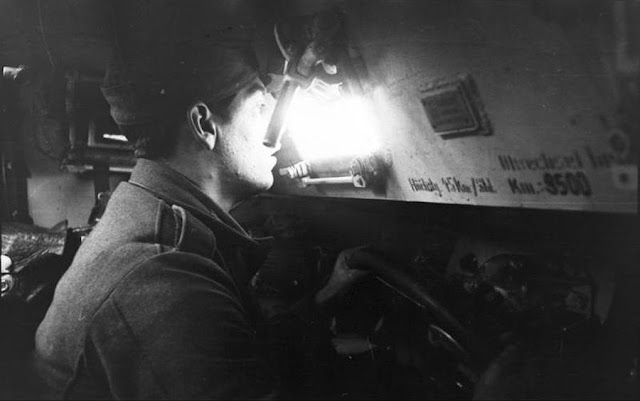 German soldier driving halftrack, 10 August 1941 worldwartwo.filminspector.com