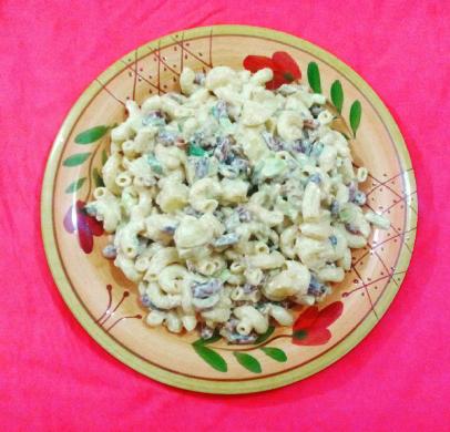 Red bean macaroni salad