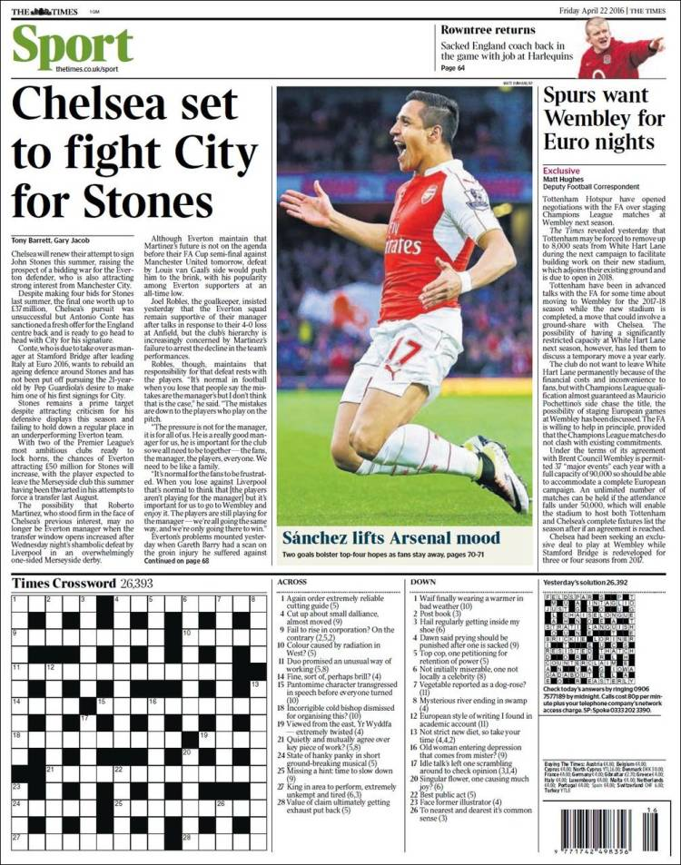 newspaper sports sport headlines today times broadsheets chelsea tabloids football english pages targeting agree players arsenal star balls ie telegraph