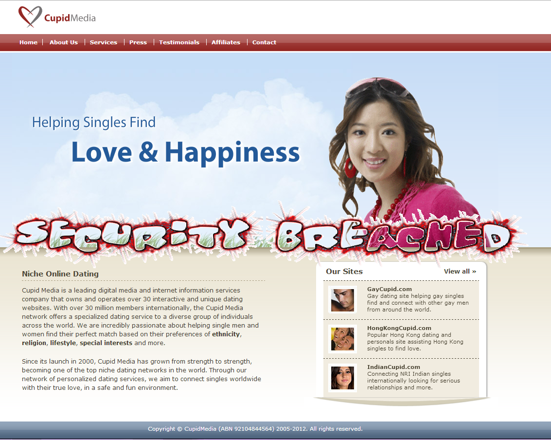 All cupid dating sites