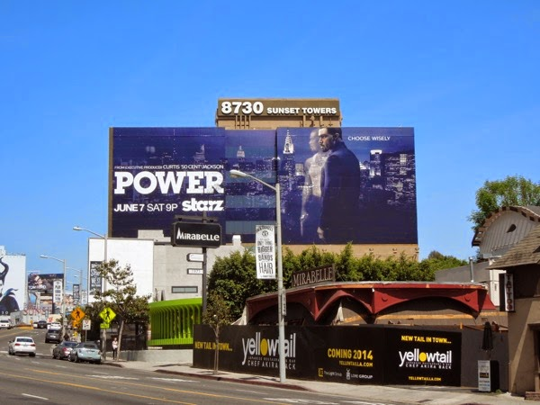 Giant Power series premiere Starz billboard Sunset Strip