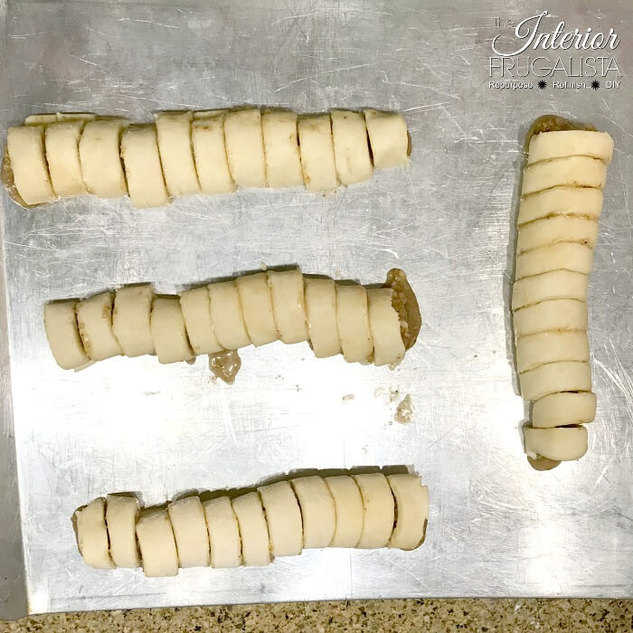Walnut Strudel Christmas Cookies Sliced