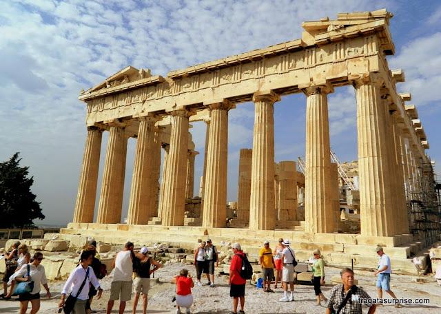 Partenon, na Acrópole de Atenas