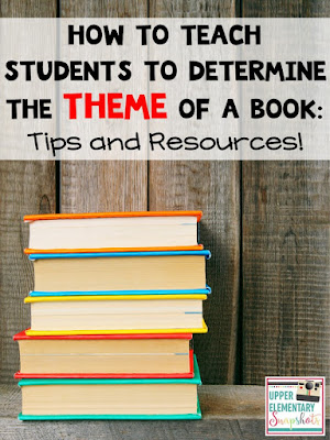Are you teaching upper elementary students how to identify the theme of a piece of literature? This blog post features FREE posters, an anchor chart idea, and five helpful tips!
