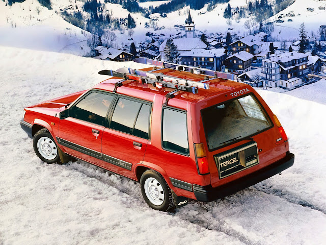 Toyota Tercel 4WD in the snow