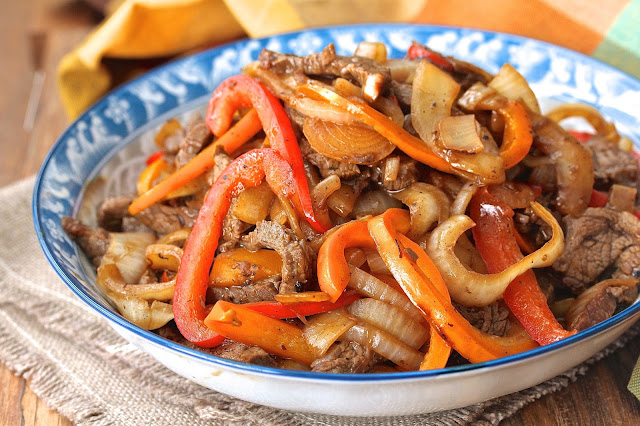 Jean Yueh's Beef with Onions and Peppers