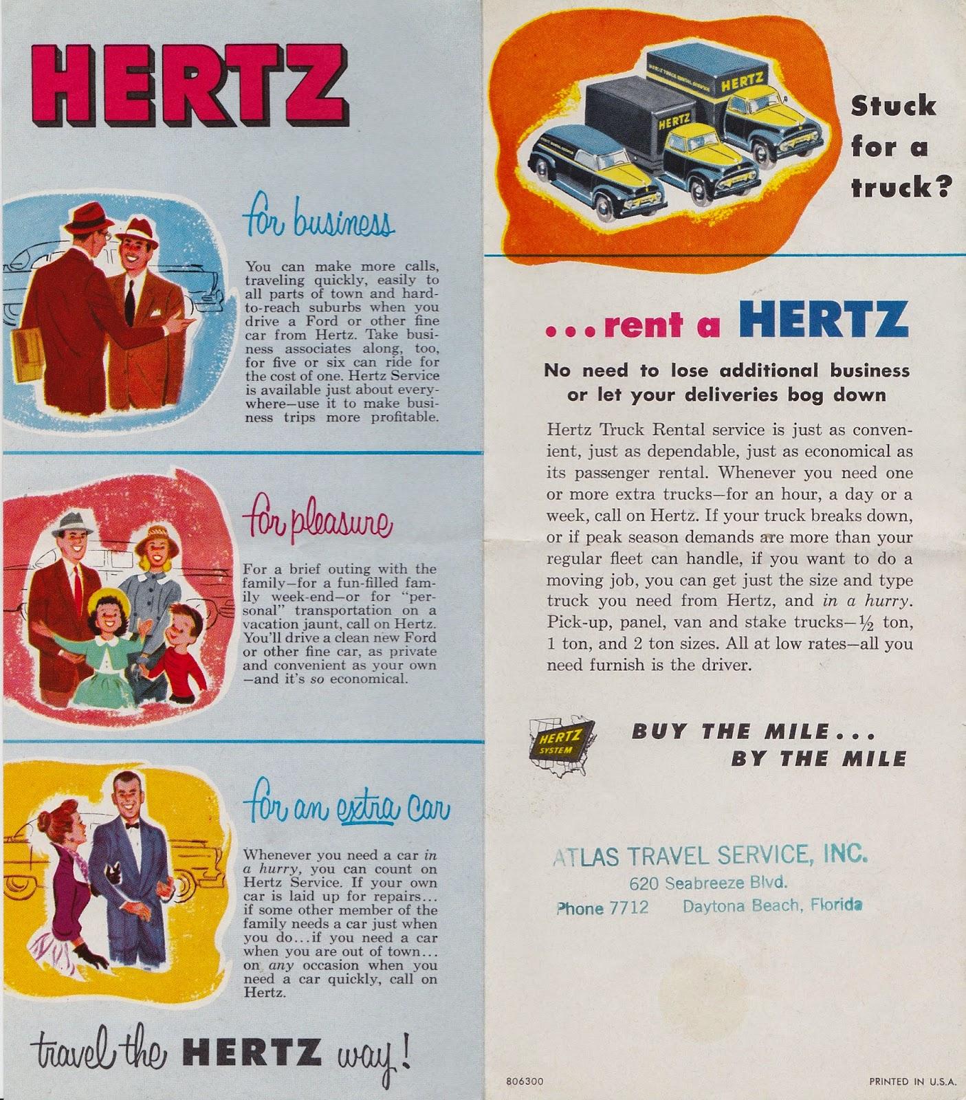 Garage Sale Finds: Hertz Rent A Car Pamphlet