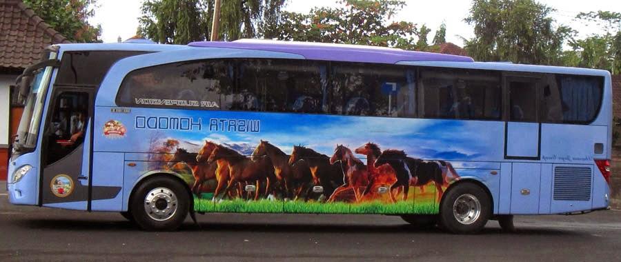 daftar rute dan tarif bus wisata komodo denpasar bali