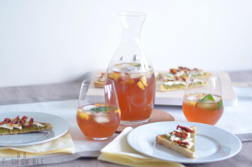 Minty Vanilla Peach Ice Tea Titelbild
