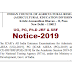 ICAR's All India Entrance Examinations for Admission to UG [ICAR AIEEA (UG)-2019], PG [ICAR AIEEA (PG)-2019] and Ph.D. [ICAR AICE-JRF/SRF(PGS)-2019] for the Academic Session 2019-20