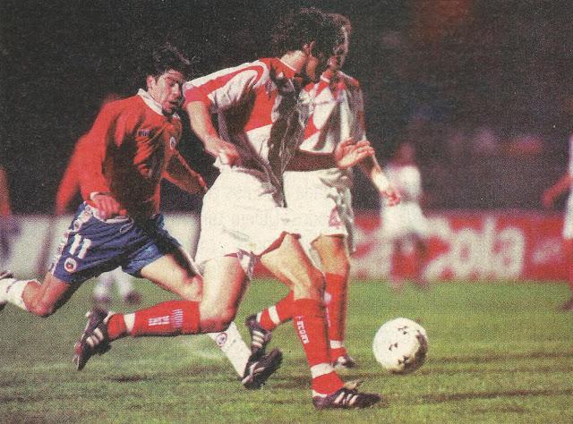 Chile y Canadá en partido amistoso, 11 de octubre de 1995