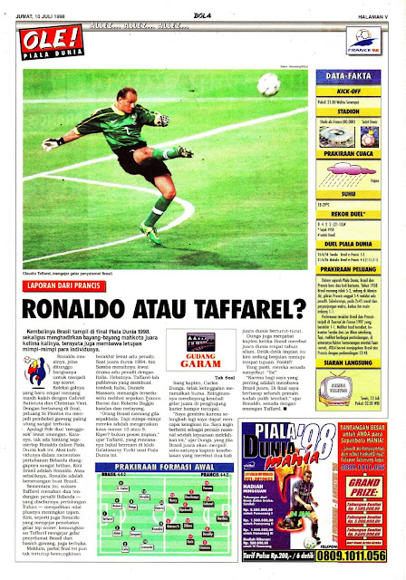 WORLD CUP 1998 BRASIL RONALDO OR TAFFAREL