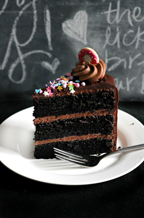 Superb The Brunette Baker Black Magic Birthday Cake Funny Birthday Cards Online Elaedamsfinfo
