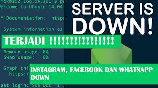Tidak Bisa Kirim Foto, Ini Penyebab WhatsApp, Facebook Dan Instagram Down Hari Ini