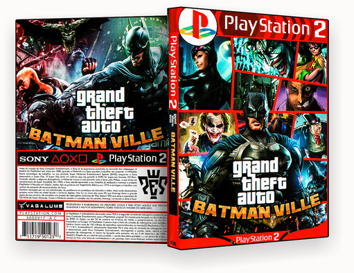 CAPA – Grand The FT Auto Batman Ville PS2 – ISO