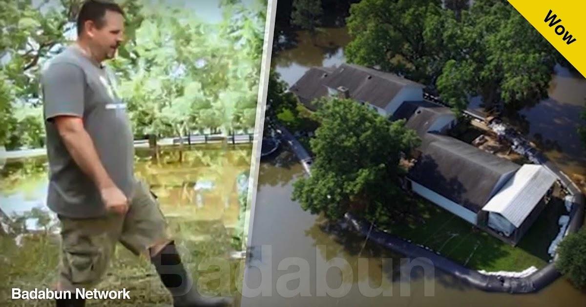 hombre salvo casa agua inundación se burlaron