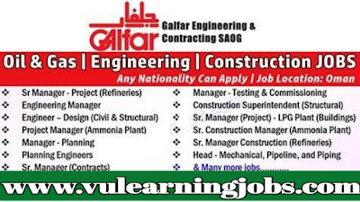 Careers - Galfar - EPC Companies In UAE - Vulearning Jobs