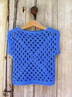 square único blusinha de crochê