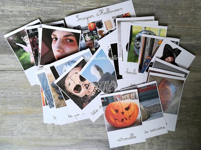 Cartes de nomenclature Imagier d'Halloween Maaademoiselle A. Shop