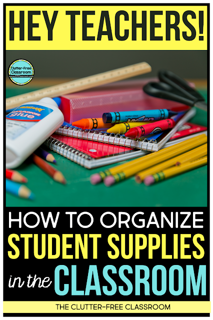 Do you find student supplies everywhere in your classroom? If so, you need to check out these organization hacks for storing student supplies here.