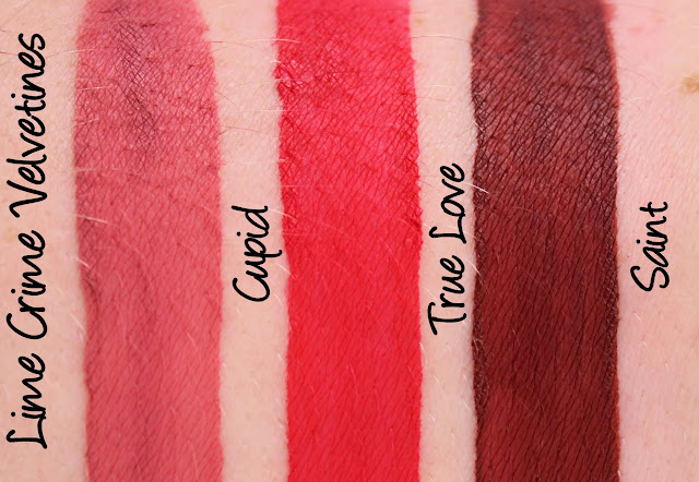 Lime Crime True Love Velvetines Set - Cupid, True Love & Saint Swatches & Review