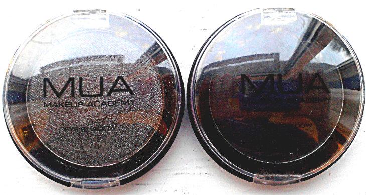 MUA Eyeshadows in Pearl and Matt