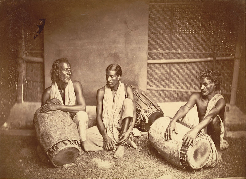 Group of Drummers (Dhaki) - Eastern Bengal 1860's